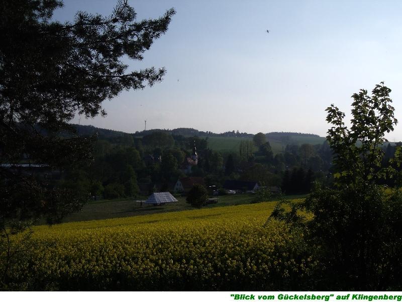 Blick vom Gückelsberg auf Klingenberg