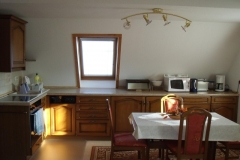 Einbauküche im Dachgeschoß
